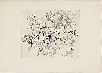 DIMITRI PLAVINSKY, etching, signed and dated 69.