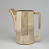 A 20th century sterling silver water-jug, marked the kalo shops chicago.