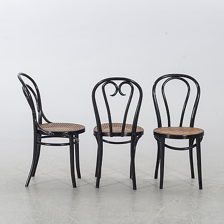 6 similar chairs, mid-/ first half of the 20th century.
