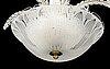 A fritz kurz ceiling light for orrefors, mid 20th century.