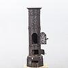 Kamin tidigt 1900-tal gjutjärn.