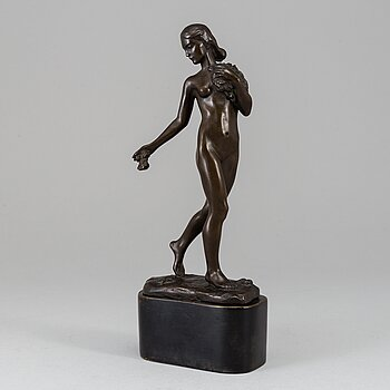 ARVID KNÖPPEL, Sculpture. Signed and dated. Foundry mark. Bronze.