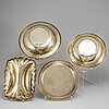 Four 20th century american silver-gilt sterling dishes.