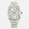Rolex, oyster perpetual, date, chronometer, wristwatch, 34,5 mm.