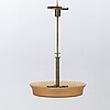 A early 20th century ceiling lamp, possibly simon gate for orrefors.