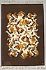 "A carpet, ""korall"", flat weave. signed v, ca 244 x 168 cm."