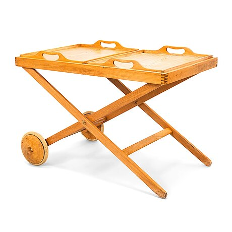 Aulis leinonen & tapio wirkkala, a tea trolley. manufactured by asko 1950-51.