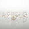 Wilhelm wagenfeld, 16-piece 1930/40's teaset for jenaglas, paltex, schott mainz.