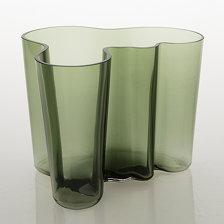 "Alvar aalto, vase, ""savoy"" 50 years, signed a. aalto 1936-1986 iittala 1909/8000."