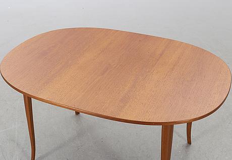 "A 20th century second half carl malmsten table ""ovalen"" (the oval) produced by carl löfving & söner, tibro, sweden."