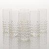 Nanny still, a 28-piece set of 'grappo' glassware, riihimäen lasi 1967-73.