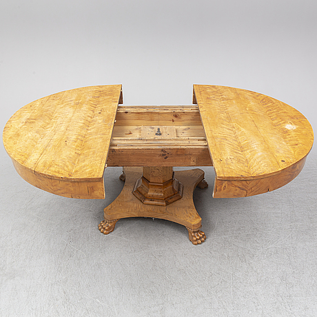 Matbord, karl johan, 1800-talets mitt.