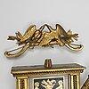 VÄggpendyl, av gustaf undén (urmakare i stockholm 1800-1829), sengustaviansk.