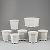 A group of 7 'waldemarsudde' flower pots, prins eugen, gustavsberg, designed 1915.