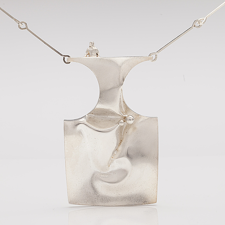 "BjÖrn weckstrÖm, halsband ""barbarella"", sterling silver. lapponia 1972."