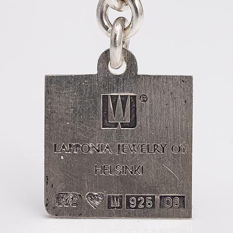 A sterling silver key holder. lapponia 1991.