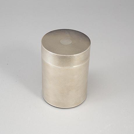 Hermès, a silver plated tobacco box.