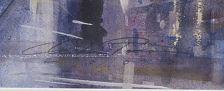 Mika tÖrÖnen, watercolour, signed and dated 2007.