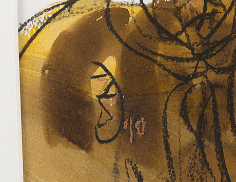 Zsuzsa demeter, stain, charcoal, pastel, signed and dated 2010.