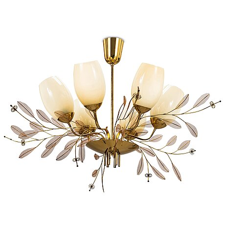 Paavo tynell, a mid-20th century '9029/6' chandelier for taito, finland.