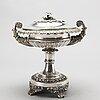 Sugarbowl with lid, silver, gustaf möllenbog, 1837. weight ca 780 gram.