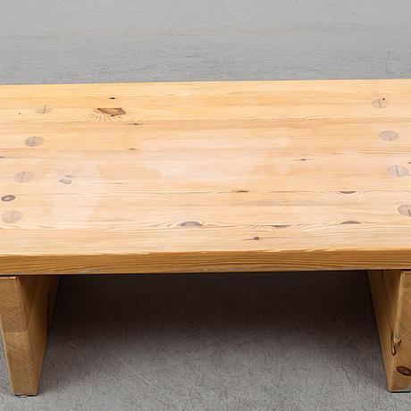 A 1960s-70s pine sofa table.