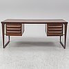 A 1960's rosewood desk by kai kristiansen, feldballes møbelfabrik, denmark.