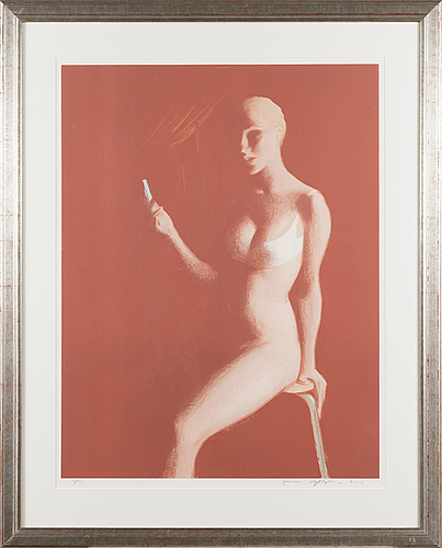 Janne myllynen, lithograph, signed, numbered 24/70.