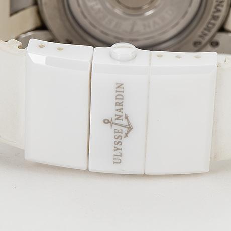 Ulysse nardin, executive dual time, armbandsur, 40 mm.