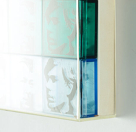 """Andy warhol, """"portrait of the artists"""" from """"ten from leo castelli""""."""