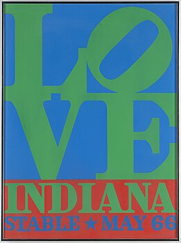 ROBERT INDIANA, exhibition poster, 1966/1971.