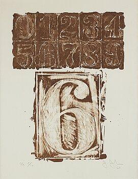 """293. Jasper Johns, """"6"""" from """"0-9""""."""