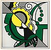 "Roy lichtenstein, ""still life"" from ""the metropolitan scene""."