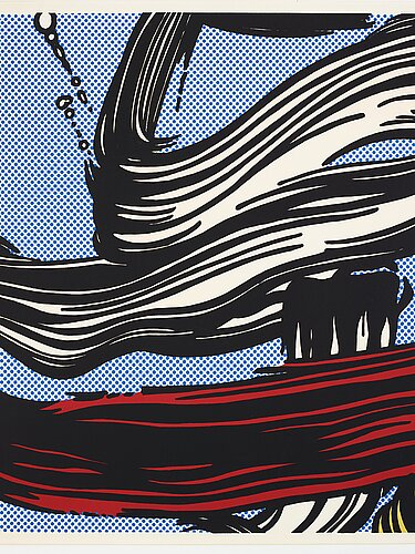 "Roy lichtenstein, ""brushstrokes""."