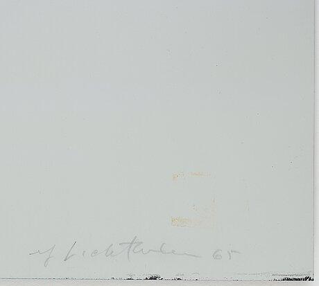 """Roy lichtenstein, """"moonscape"""" from """"11 pop artists, volume i""""."""