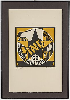ROBERT INDIANA, lithograph, 1973, signed in pencil and numbered 95/125.