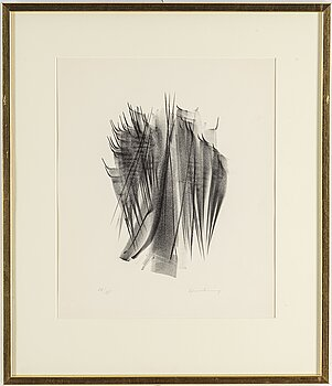 HANS HARTUNG, a lithograph, singned in pencil and numbered 24/35.