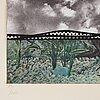 """Roy lichtenstein, """"fish and sky"""" from """"ten from leo castelli""""."""