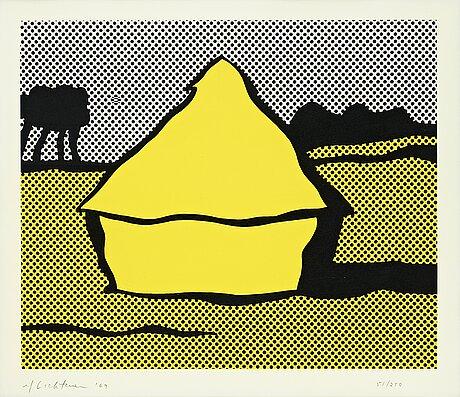 """Roy lichtenstein, """"yellow haystack""""."""