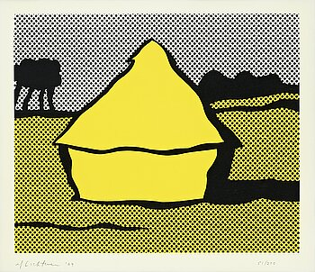 """306. Roy Lichtenstein, """"Yellow Haystack""""."""