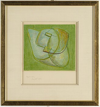 NAUM GABO, lithograph, with inscription and dated 1963.