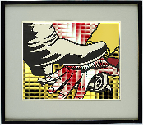 "Roy lichtenstein, ""foot and hand""."