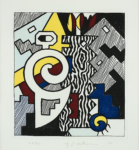 "Roy lichtenstein, ""dancing figures""."