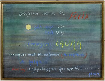 STELLAN MÖRNER, oil on canvas, signed.