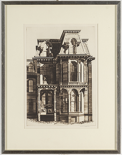 Lawrence edward kupferman, etching and drypoint, signed.