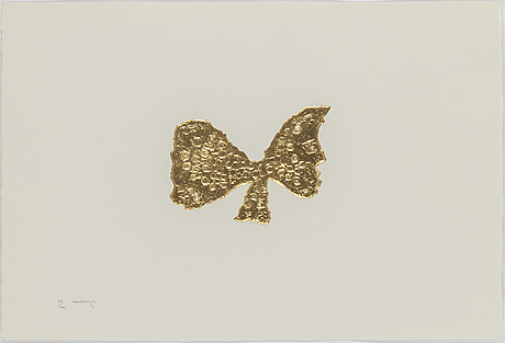 Georges braque, 4 etchings embossed gold leaf intaglio, ca 1960, with braque's signature embossed.