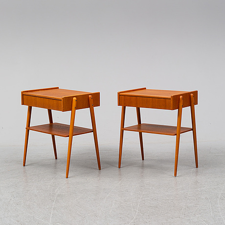 SÄngbord, ett par, ab carlström & co möbelfabrik, 1950/60-tal.