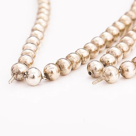 Halsband och armband, silver.