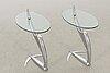 Pierangelo caramia ''arcadia swing'', a pair of tables.