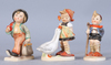 Figuriner, 3 st, porslin, goebel, 1900-talets första hälft.